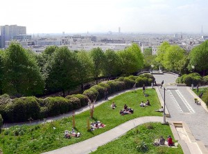 parc de belleville paris 20 vue panoramique